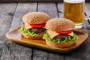 mini hambúrguer foto