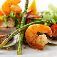 prato de frutos do mar foto
