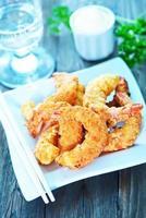 camarão frito foto
