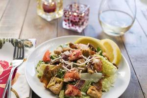 salada caesar de lagosta
