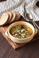 sopa com cogumelo foto