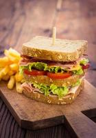 sanduíche delicioso foto