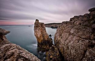 rochas grandes exposição longa ..