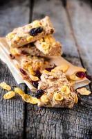 flocos de milho e cranberry foto