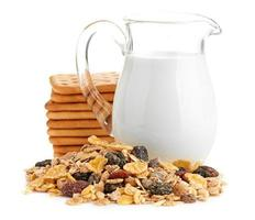 café da manhã com flocos de milho foto