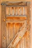 porta de madeira foto