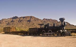 velho trem ocidental foto