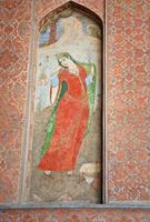 afresco antigo representando uma mulher persa foto