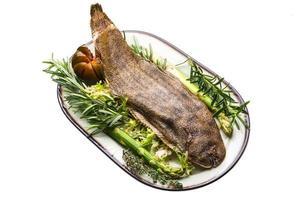 linguado peixe dover assado foto