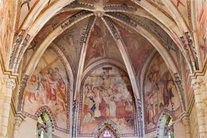 cordoba - aflição de afrescos medievais de cristo foto