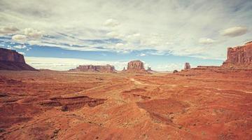 foto de estilo vintage filme antigo do vale do monumento, EUA.