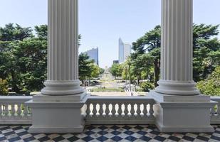 vista do edifício do capitólio da califórnia foto
