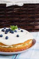 torta de ruibarbo foto