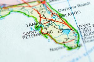 mapa da flórida foto