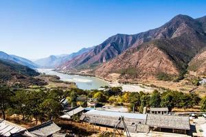 primeira curva do rio Yangtze