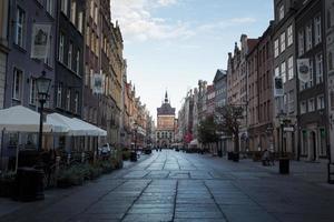 paisagem urbana de gdansk na polônia foto
