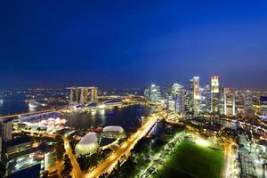 Vista aérea do horizonte de Singapura