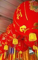 lanternas chinesas durante foto