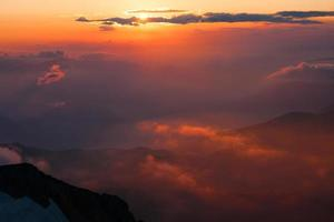 montanha pôr do sol verão