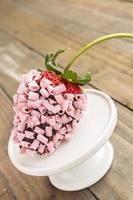 morango chocolate rosa foto