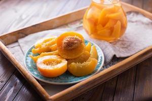 compota de frutas de verão foto