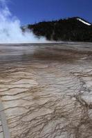 gêiseres no parque nacional de yellowstone eua por volta de maio de 2010