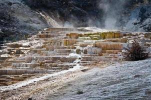 mamute fontes termais, parque nacional de yellowstone, eua