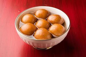 indiano doce gulab jamun foto