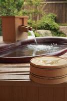 banho ao ar livre foto