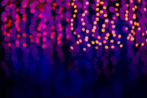 abstrato de luzes desfocadas com efeito bokeh