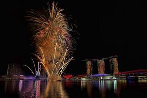 fogos de artifício de cingapura foto