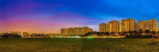 crepúsculo cingapura foto