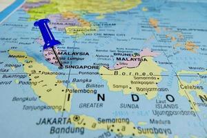 mapa de cingapura foto