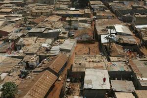 telhados da pobreza foto