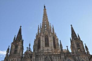 a catedral de barcelona foto