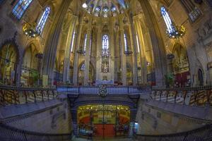 interior da catedral de barcelona, catalunha, espanha foto