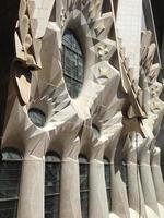 detalhe da sagrada família, barcelona, espanha foto