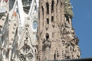 Igreja da sagrada família (sagrada família) em barcelona, fragmento foto