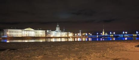 noite São Petersburgo. foto