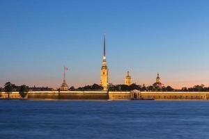 Fortaleza de Pedro e Paulo em São Petersburgo, Rússia foto