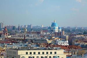 vista aérea da catedral de isaac, são petersburgo foto