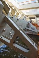 complexo de instalações para prevenção de inundações em são petersburgo foto