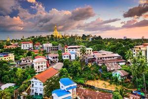 skyline de yangon foto