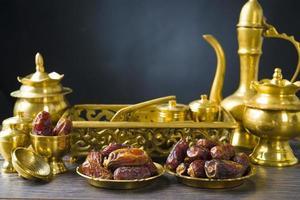 ramadan food, também conhecido como kurma, palm datas foto