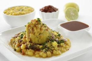 ragda pattice, comida de bate-papo, Índia foto