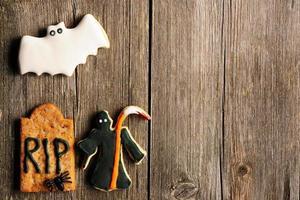 biscoitos caseiros de gengibre de halloween
