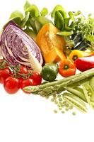conjunto de legumes frescos foto