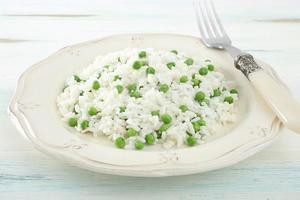 arroz com feijão verde