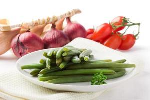 feijão verde - feijão francês foto