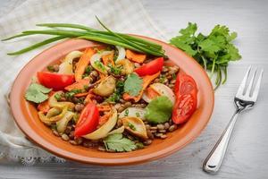 salada de lentilhas foto